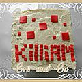 Gâteau d'anniversaire minecraft : entremet choco-poire