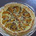 Tarte aux abricots pistachée