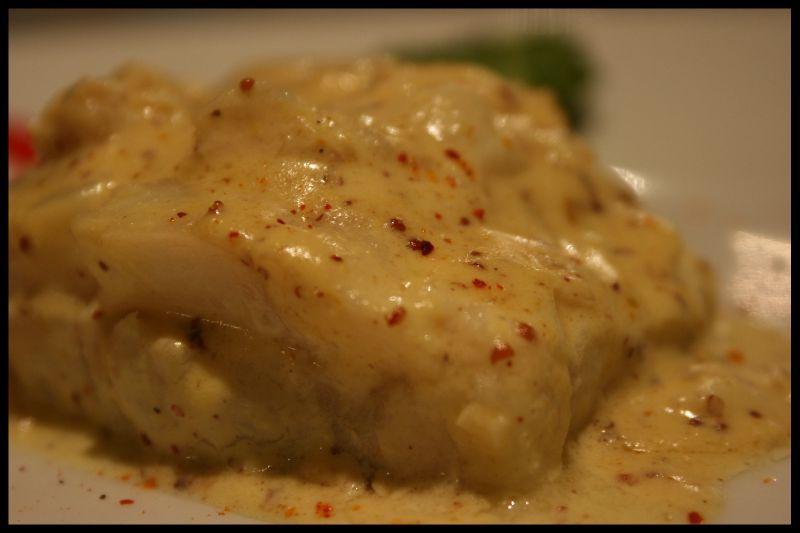 Filet de lieu jaune sauce moutarde les ptits frichtis de manue - Comment cuisiner le lieu jaune ...