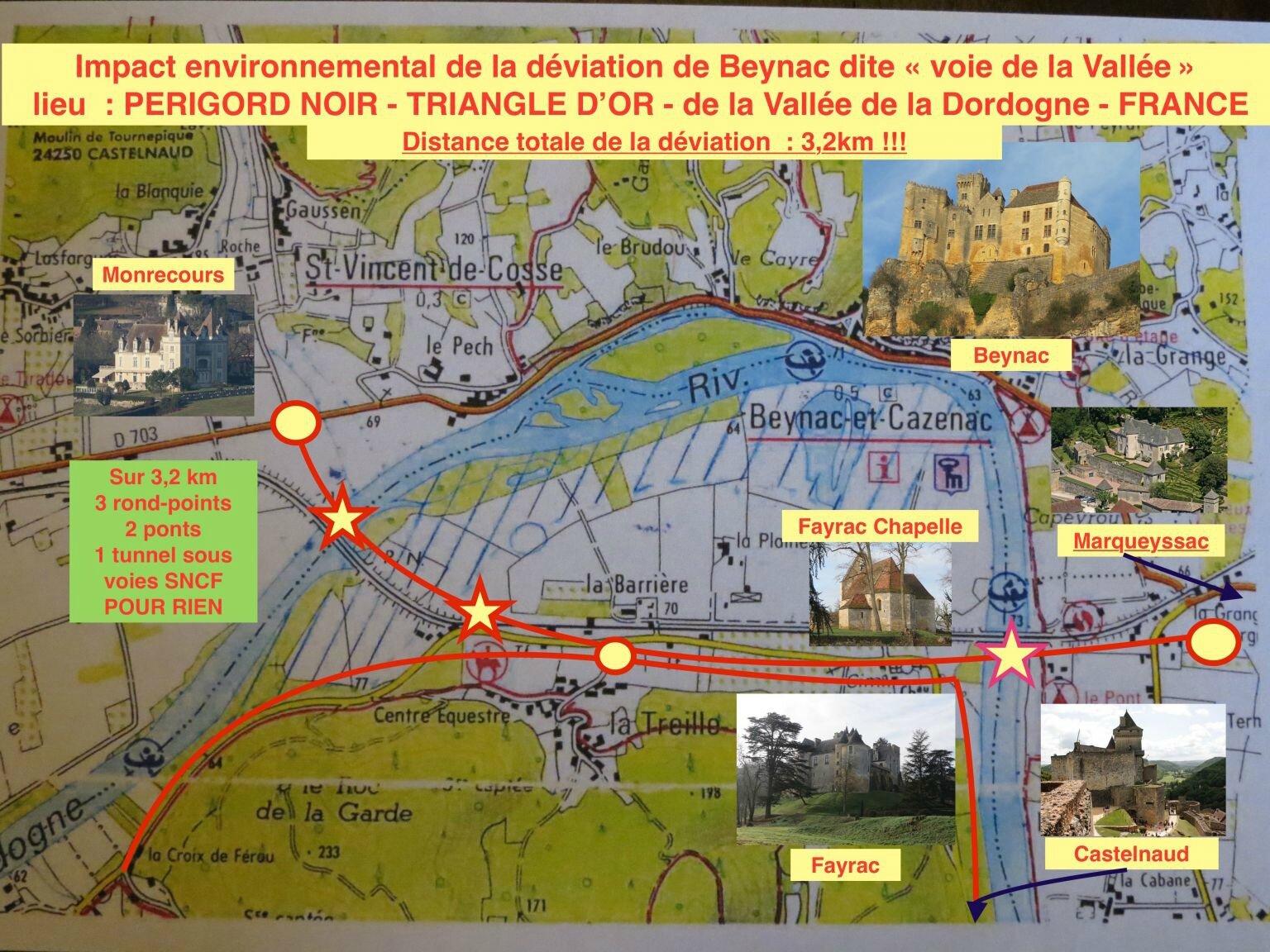 Nouveau tracé pour Beynac