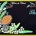 Coffret a Thés Peint fleurs exotiques 2