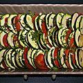 Tian provencal courgette, aubergine et tomate, le retour de la courgette