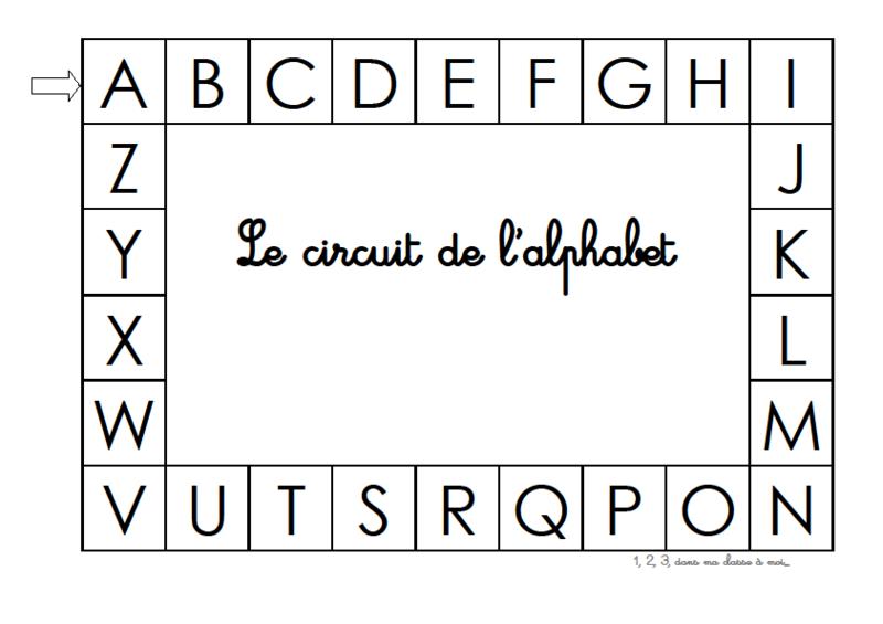 Fabuleux Le jeu du circuit de l'alphabet - 1, 2, 3, dans ma classe à moi FW34
