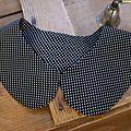 col amovible en coton noir à tout petits pois blancs (1)