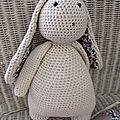 lapin au crochet Marin le lapin