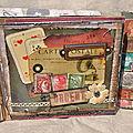Mini album façon carte postale et un tag