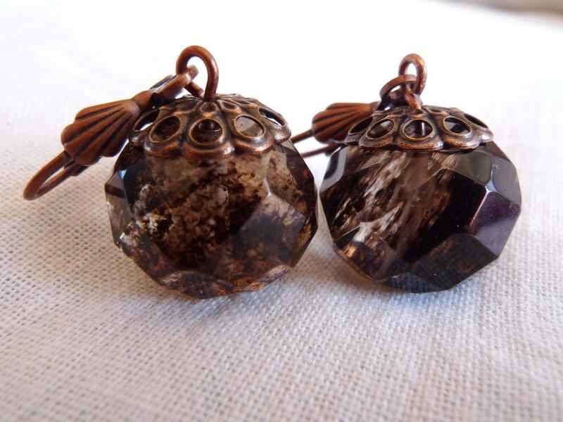 Boucles d'Oreilles en QUARTZ à rutiles 19€