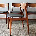 Lot de 4 chaises danoise p.e. jorgensen