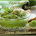 Tapenade aux olives vertes. france