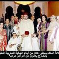 صاحب الجلالة الملك محمد السادس يستقبل عددا من أبناء الجالية المغربية المقيمة بالخارج يعانون من أمراض مزمنة