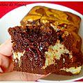 Brownies marbrés à la noix de coco