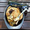 Poulet farci au couscous en cocotte saveurs