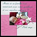 Une carte de remerciement naissance en digital