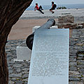 Monemvasia, canon et affiche en braille 071116