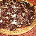 Tarte à l'abricot aux éclats de chocolat et de nougat