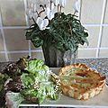 Tartelettes saumon fumé raclette crème fraîche origan et décos noël saint malo