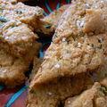 Galettes de farine de pois chiches
