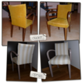 Customisation fauteuil moutarde