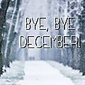 Le bilan de décembre de céline