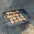 barbecue de gambas