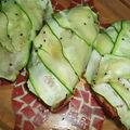 Tartines gourmandes aux courgettes et rillettes
