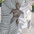 Sculpture sur pierre, samoens