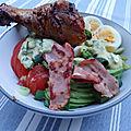 Cobb salade, sauce ranch