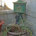 Boite aux lettres en Fonte - Letters box avec messager à cheval