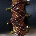 bracelet jagged peyote stitch lampole