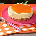 Cheese cake mangue et coulis d'abricot