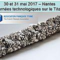 Journées mise en forme du titane - nantes - 30 et 31 mai 2017