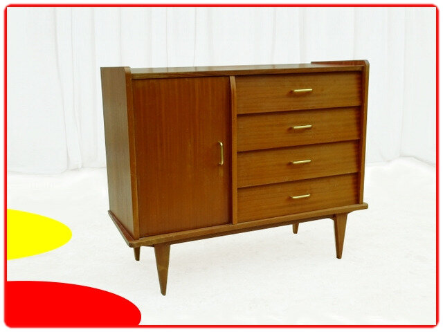 commode buffet vintage 1960
