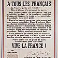 Deux appels à la résistance : de victor hugo au peuple au nom de la république, de de gaulle aux militaires.