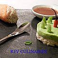 Cornet crabe et avocat,carvi,curry et cannelle
