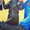 icône de Saint François avec les animaux