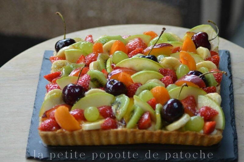 tarte aux fruits d 39 ete la petite popotte de patoche. Black Bedroom Furniture Sets. Home Design Ideas