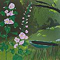 Roses trémière dans les marais