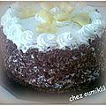 Gâteau anans et crème mousseline