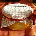 Confiture pomme/vanille/gingembre