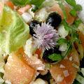 Salade de pomélo et fenouil