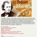 Le requiem de brahms - 23 octobre 2016 à 15h - eglise saint-remacle verviers