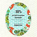 -10% pour fêter pâques et notre toute nouvelle boutique dawanda !