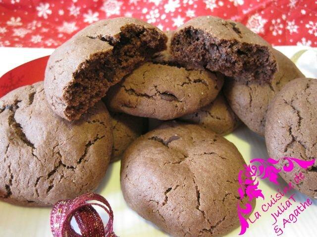 Cookies chocolat aux pépites de chocolat de Julia