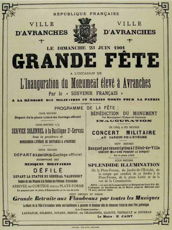 Inauguration monum Grannville