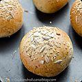 Burger buns - petits pains gris pour hamburger
