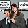 Carla bruni : première supporter du candidat sarkozy