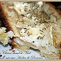 Croque au chèvre chaud miel et herbes de provence