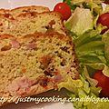 Cake salé lardons/chèvre/tomates séchées