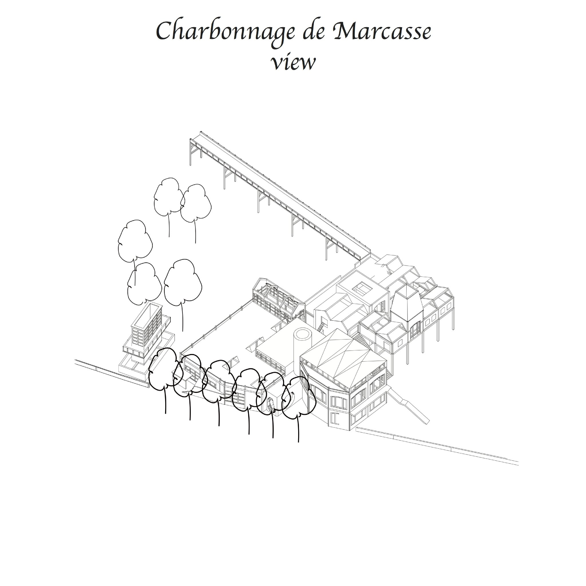 Masterplan for Marcasse; Vincent Van Gogh's favourite coal mine in the Borinage
