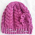 Modèle n°66 : ensemble bonnet, snood et moufles à torsades pour enfant - tuto